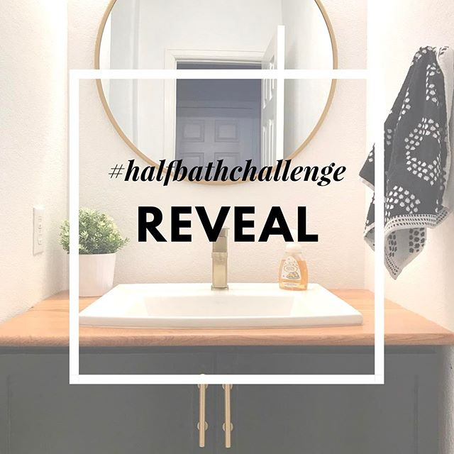 What's that? Oh yes, our #halfbathchallenge reveal up on the blog! Link in my profile. . . . #diyhome #diyblogger #diybathroom #hgtvhome #homeremodeling #homerenovation