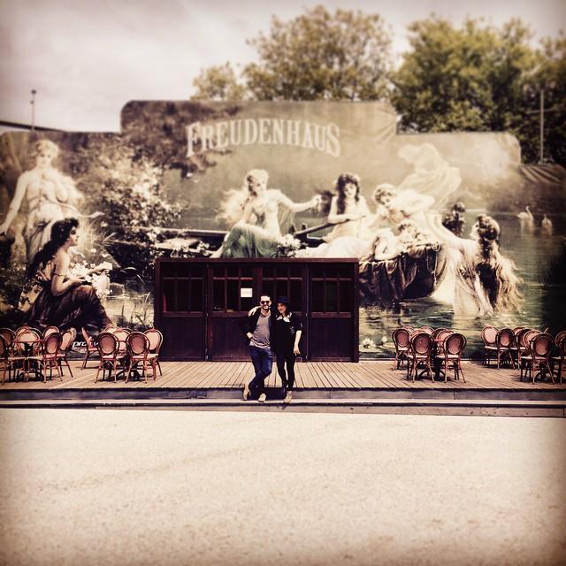 Outside the beautiful Freudenhaus venue in Austria with Camille O'Sullivan