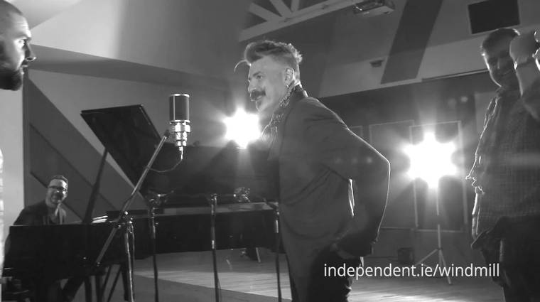 "Cian Boylan  and  Jerry Fish  in  Windmill Lane Studios  perform ""Superman"""