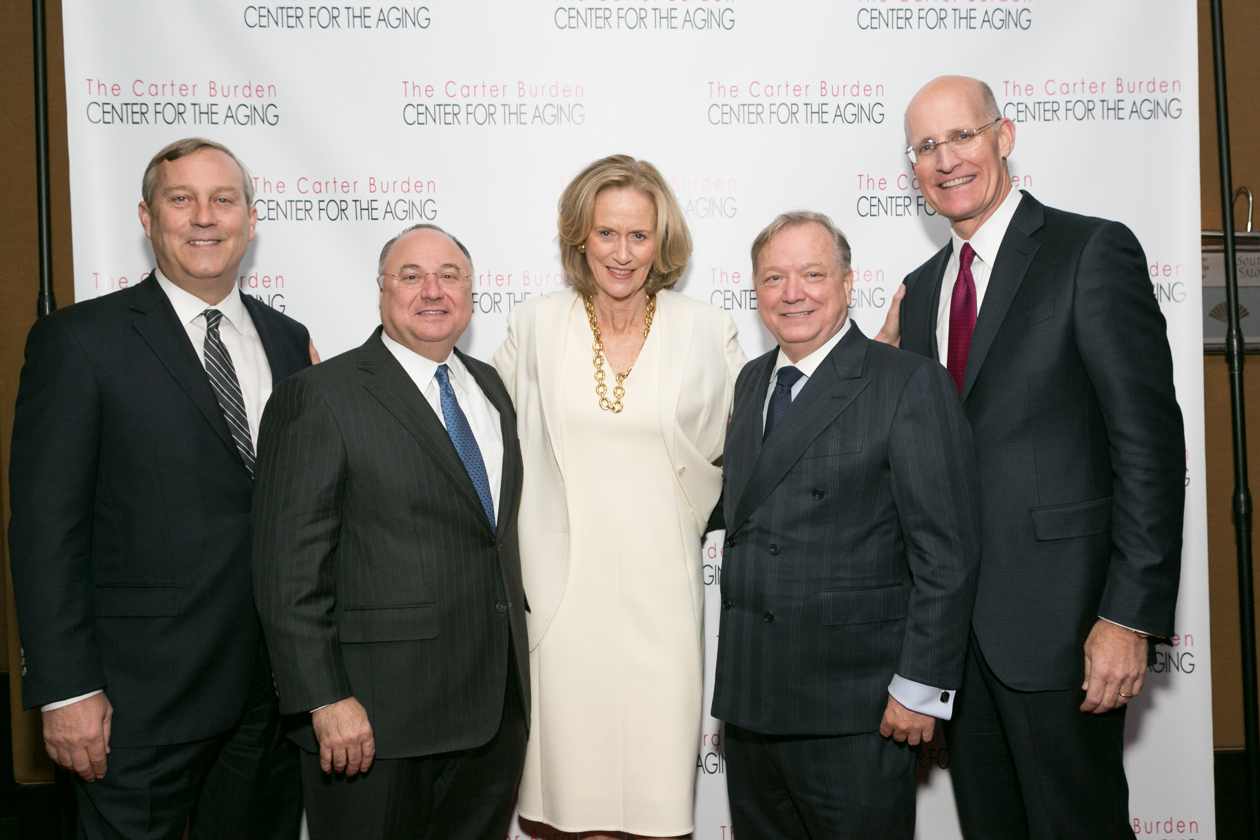 Peter Sachse   , Chief Growth Officer, Macy's, 2016 Business Leadership Honoree;  Jeffrey A. Weber , Board Chairman, Carter Burden Network;  Susan L. Burden , Board Member, Carter Burden Network;  William J. Dionne , Executive Director, Carter Burden Network;  Andy Sieg , Head of Global Wealth & Retirement Solutions, Bank of America Merrill Lynch, 2016 Humanitarian Honoree