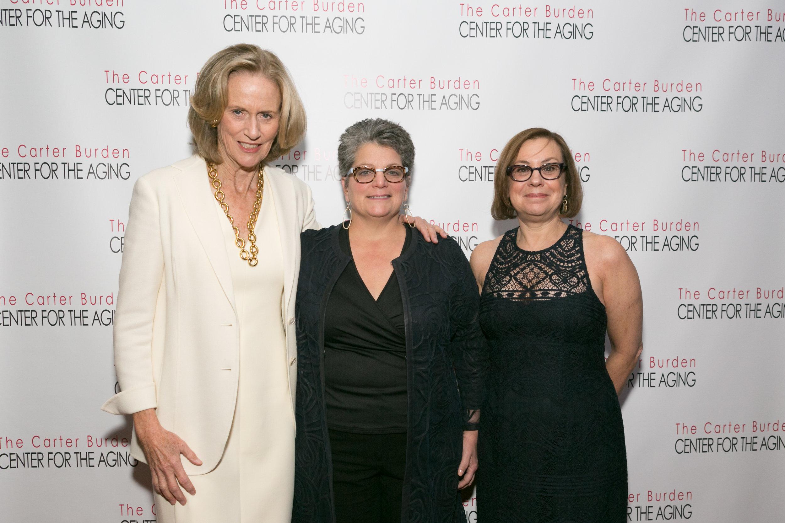 Susan L. Burden   , Board Member, Carter Burden Network; Donna M. Corrado , Commissioner, NYC Department for the Aging; Caryn Resnick , Deputy Commissioner, NYC Department for the Aging