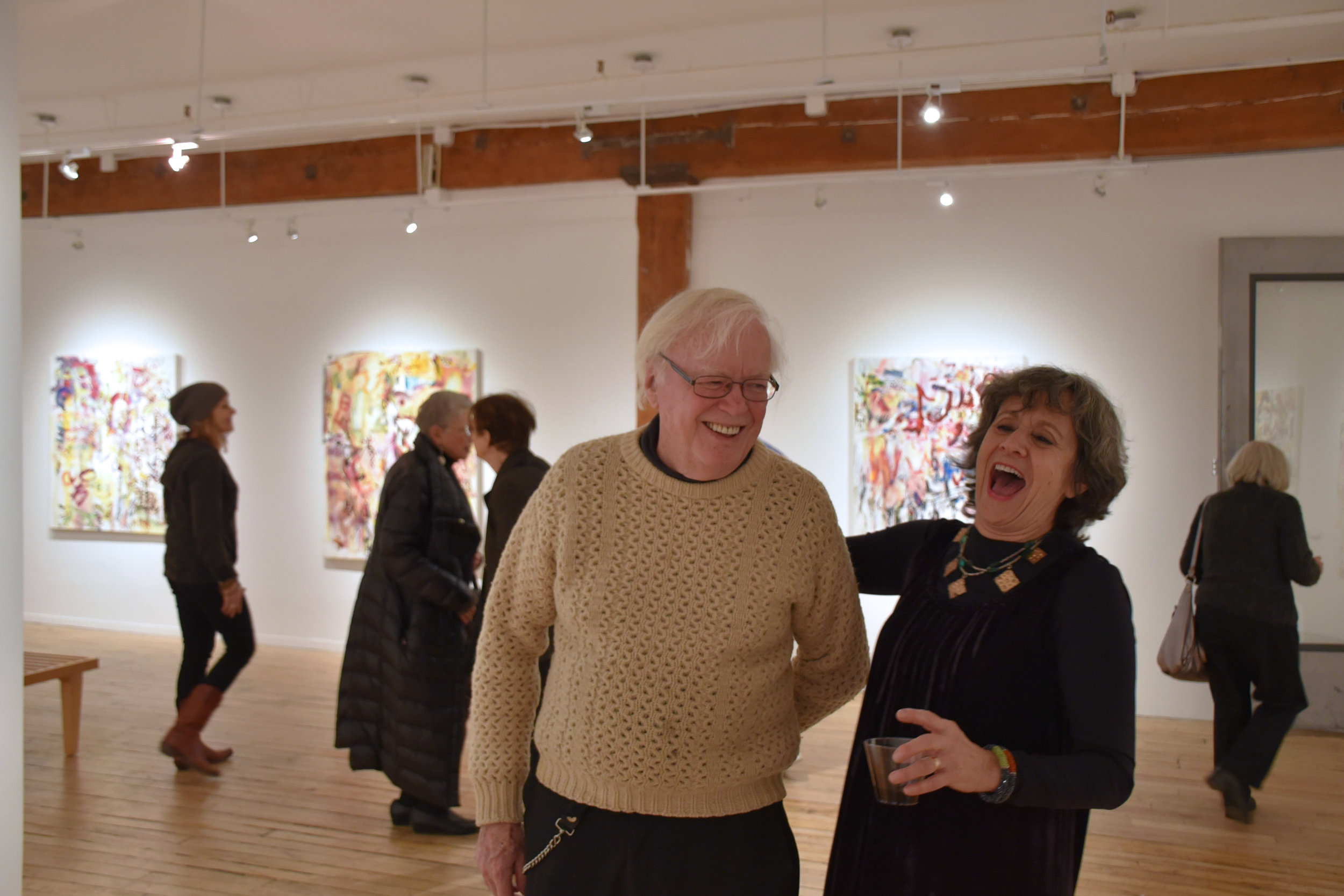 Artists John Beardman and Beth Barry at Opening Reception, January 2018.JPG