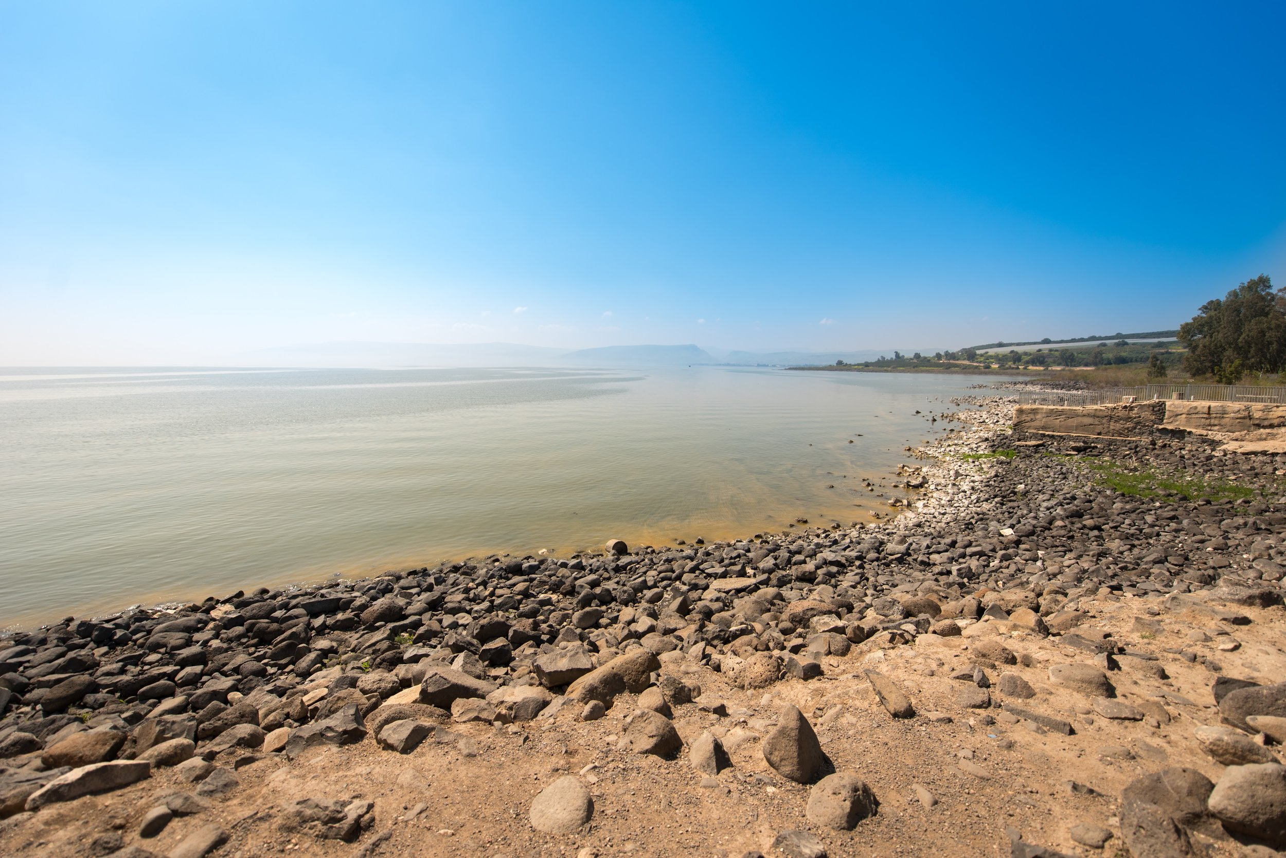 The shore where Jesus called his disciples.