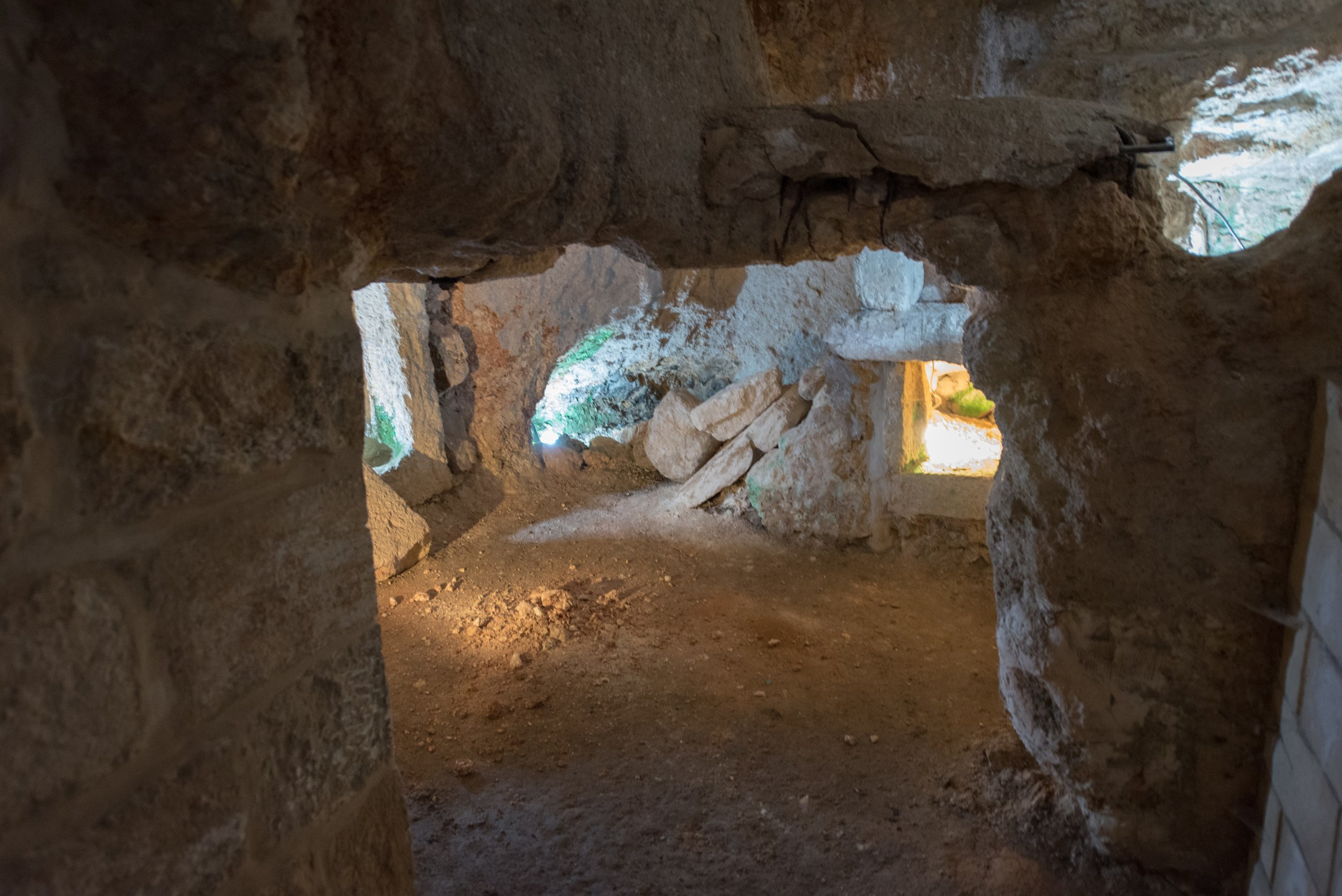 The cave, where it's thought that Jesus taught His disciples to pray the Our Father.