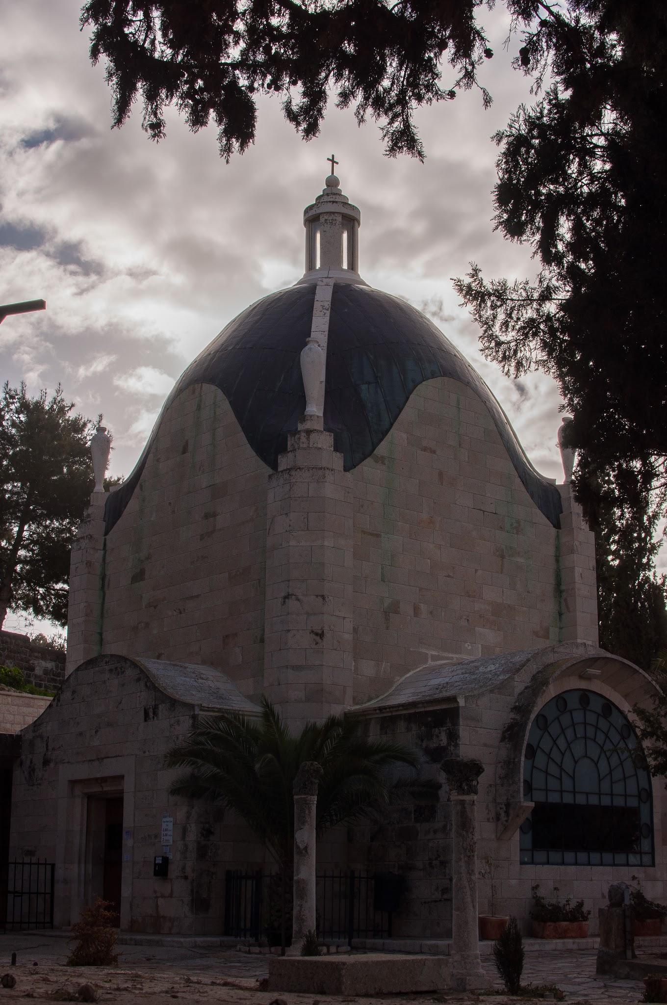 The Church is shaped like a teardrop.