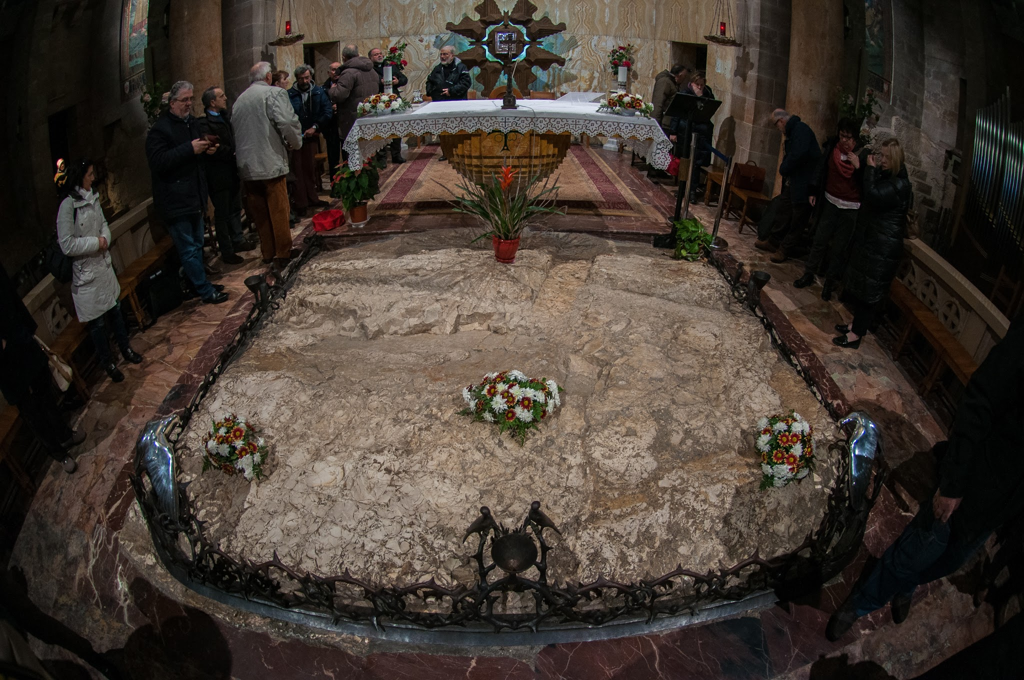 This is thought to be the rock where Jesus sweat blood.