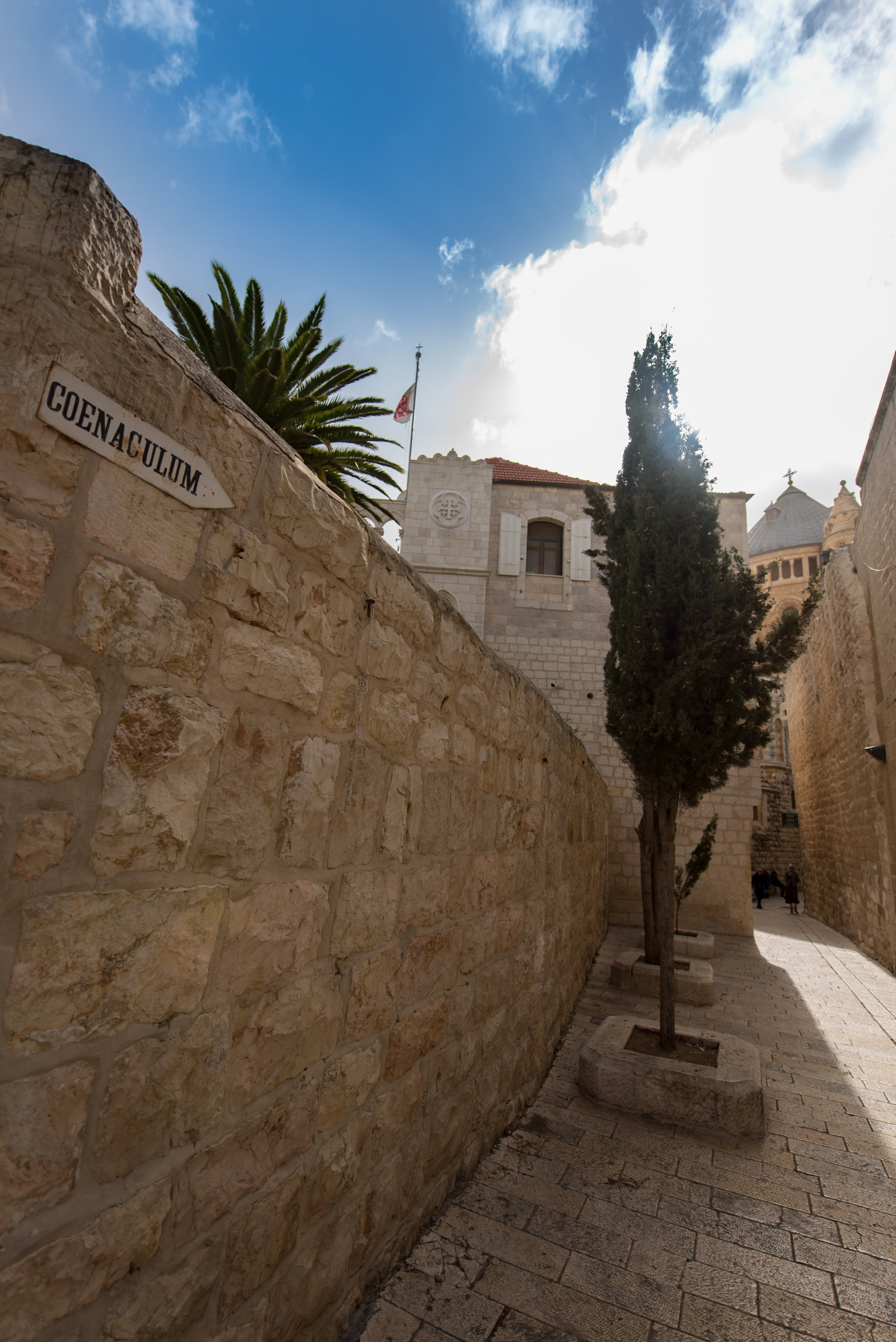 The original room was destroyed, but a Church was built on the site during the Crusader period.
