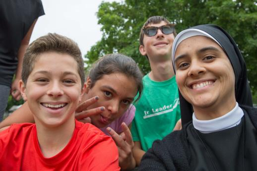 """Other than making lots of new friends and the yummy food, my highlight was the time of adoration. It was cool to have others around me that respected prayer and supported each other. I am excited to be a prayer counselor next year!"" - West (8th grade)"
