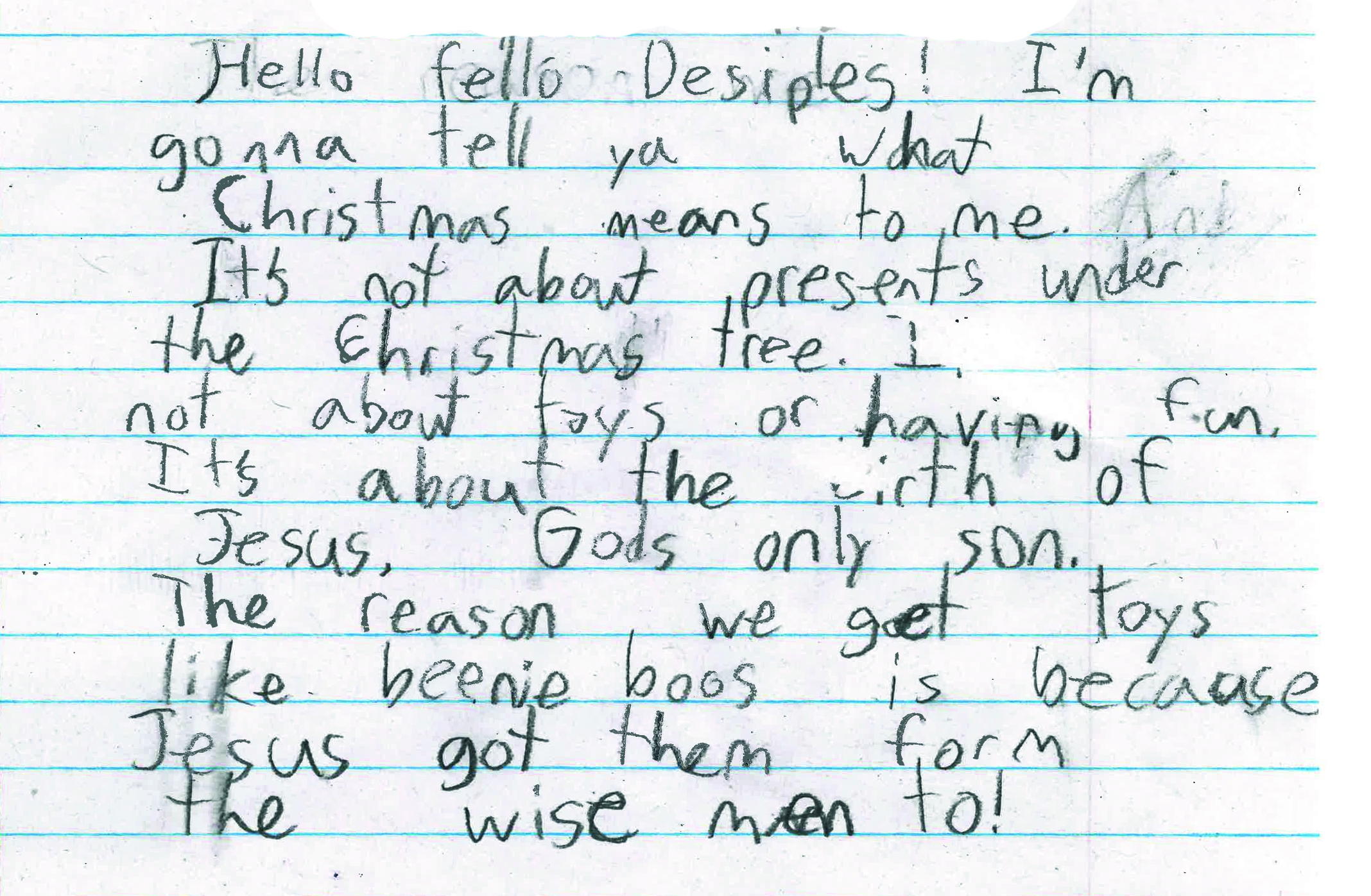 Declan Brown  , OLG School Third Grader