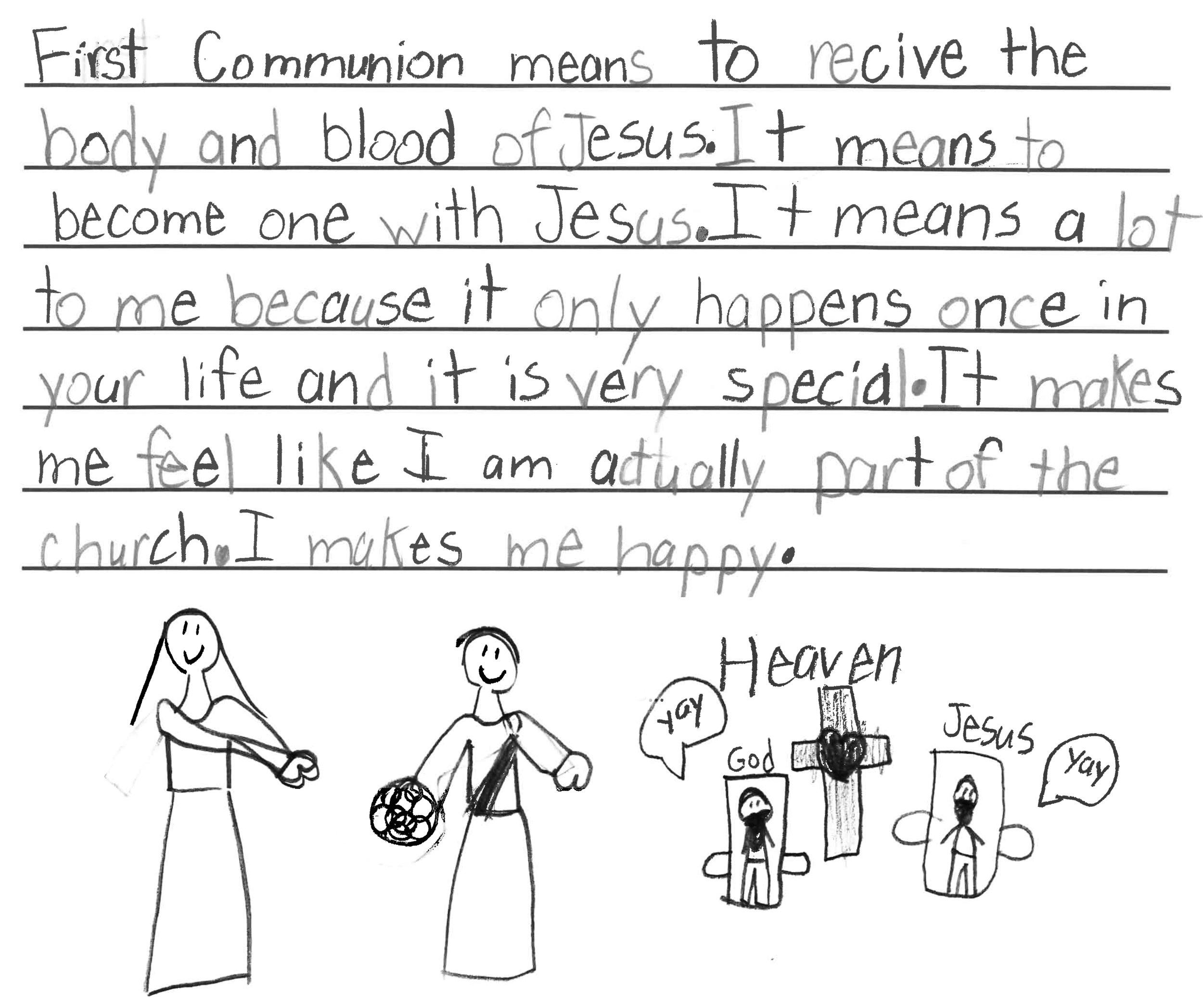Leily, Parish First Communion Student
