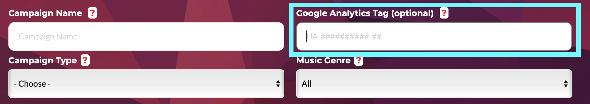 Step 7. Paste your Google Analytics ID tag into the field shown above.