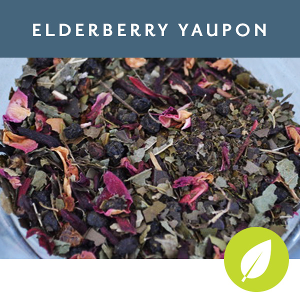 ELDERBERRY YAUPON   Yaupon with blackberry leaf, elderberry, hibiscus, roselle and rose hips & petals