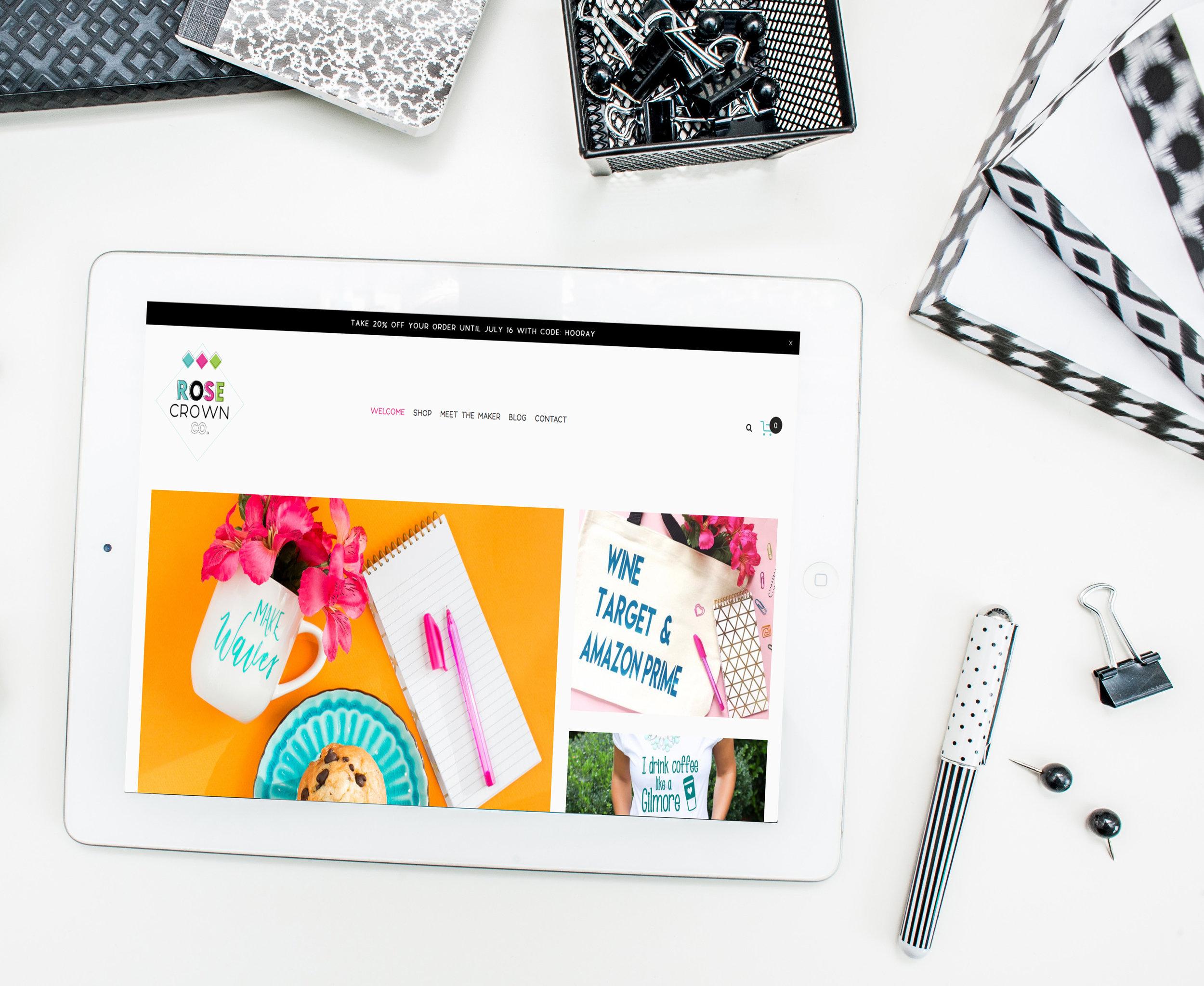 Rose Crown Co. e-commerce website design