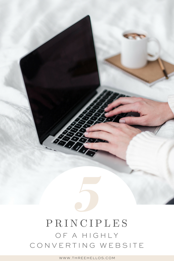 5 principles of a highly converting website