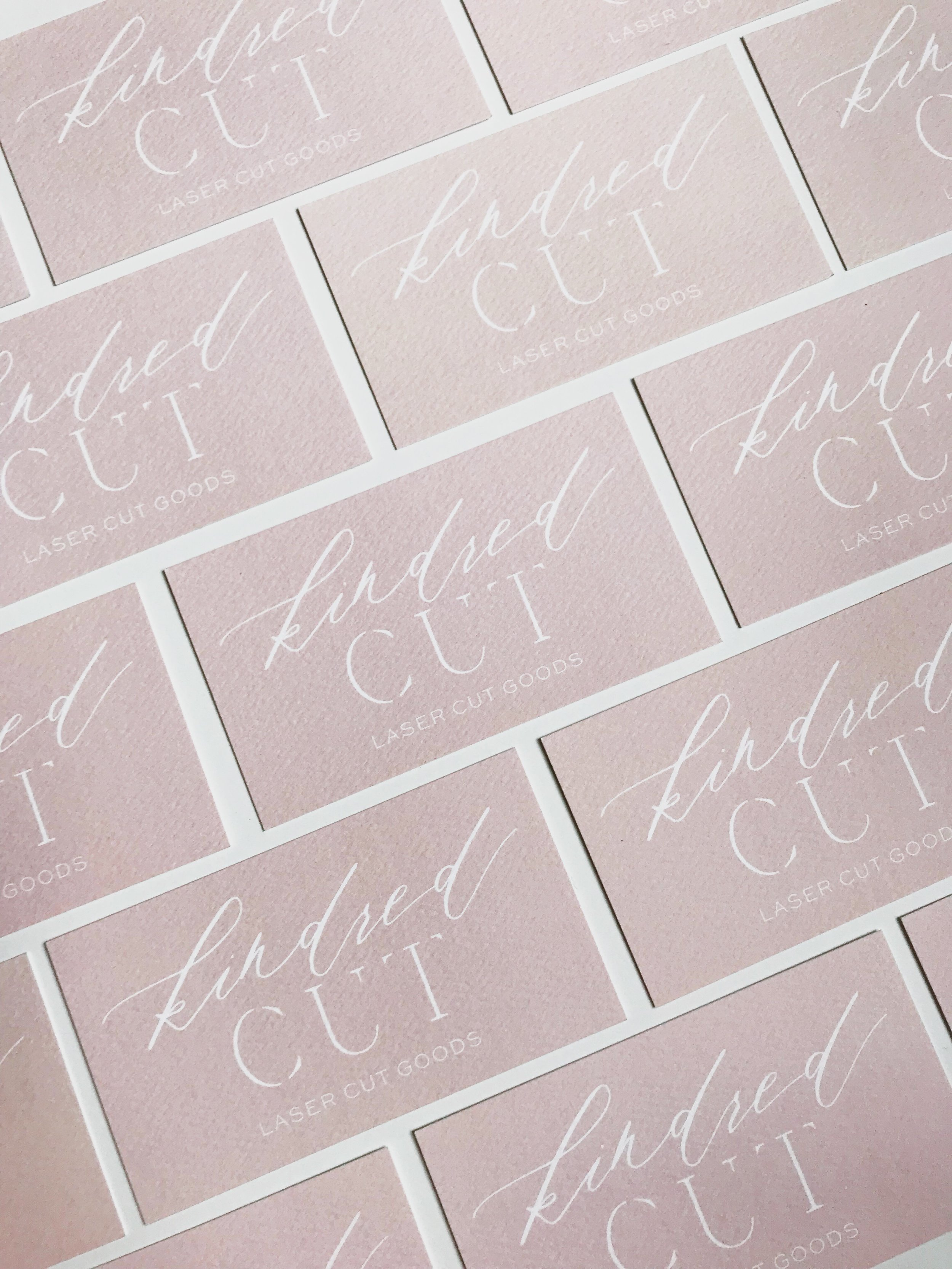 KINDRED CUT BUSINESS CARDS BLUSH PINK