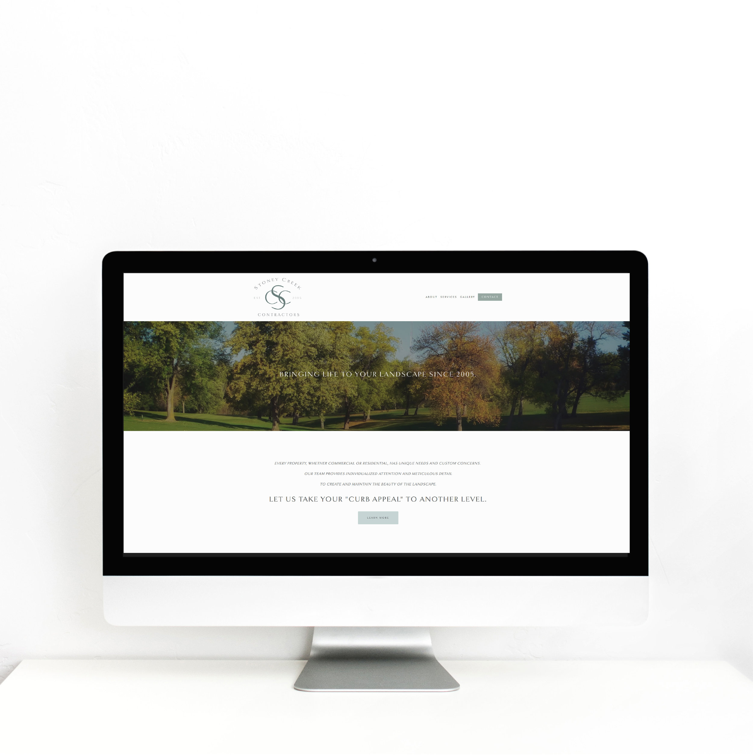 STONEY CREEK WEBSITE - MODERN LANDSCAPE BRANDING - MODERN LANDSCAPE LOGO - MODERN LANDSCAPE COMPANY