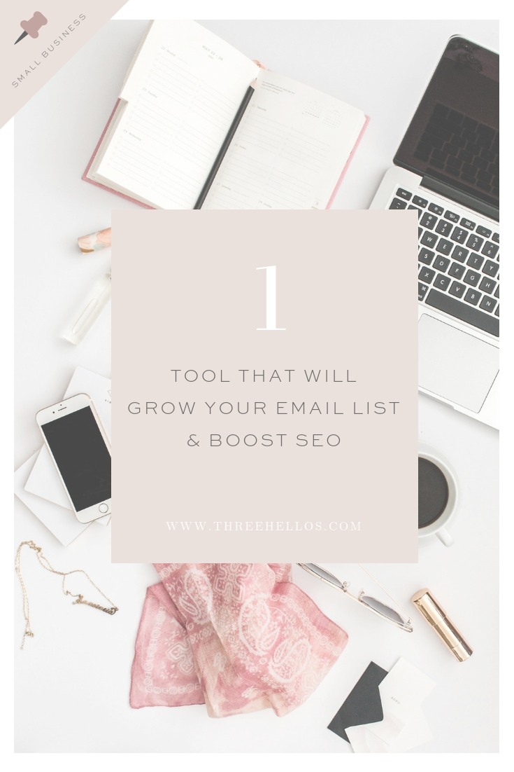1 TOOL TO GROW YOUR EMAIL LIST AND BOOST SEO
