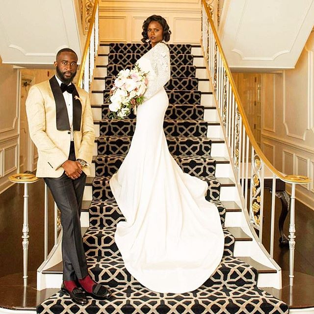 Don't let her steal the show guys, remember it's your wedding too. Getting Married? Contact us. . . . . #Men #Clothes #MenClothes #HoustonStylist #WeddingStyle #Groom #BlackTie #Spring #summertime #BespokeSuits #wedding #weddinginspiration #groomsman #mensfashion #mensuit #customsuits