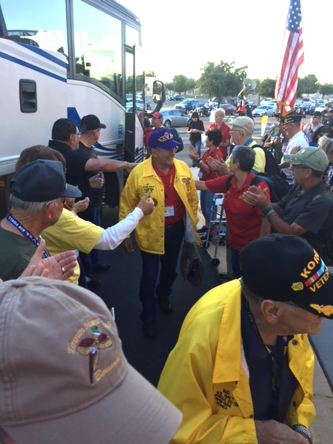 Fellow member Ray Rivera returns from Honor Flight