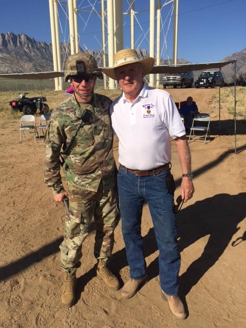 Commander Greg Long with Col Dave Brown Garrison Commander WSAMR, Purple Heart recipient