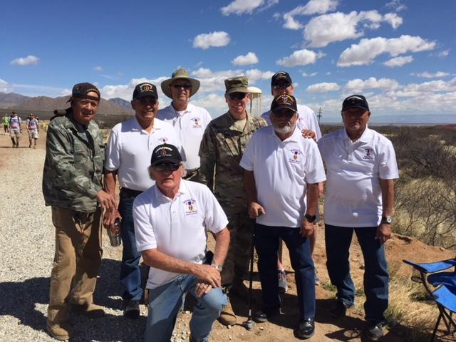 Purple Heart members with Col. Dave Brown WSMR Garrison Commander a Purple Heart recipient Bataan March 2018