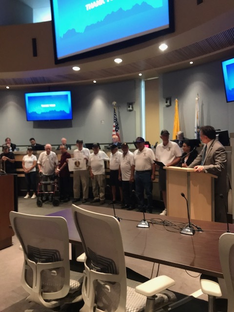 City Hall National Purple Heart proclamation on August 5th