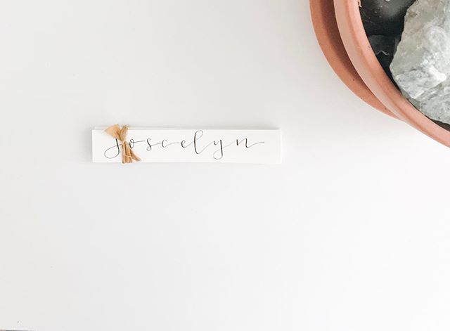 The most simple place cards are always my favorite. #inkandgraceweddings