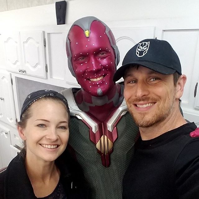 Under the direction of John Blake, Makeup Department Head, throughout the course Captain America Civil War And Avengers Infinity War. I got the opportunity to apply (always with another makeup artist) the stunt man's makeup for the character Vision. For Infinity War, I got to work with make up artist Jonah Levy.