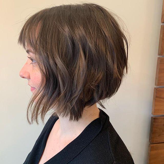 Haircut by Barbara . . modernsalon #americansalon  #licensedtocreate  #imallaboutdahair #hair  #hairgoals  #haircut #womeninbusiness #femalemotivation #femalehustler #createyourlife #citiesbesthairartists #nycbalayage #newyorkhair #nychair #nycsalon #longislandcity #queens #sunnyside #balayage #ombre #color #highlights#beauty #aveda