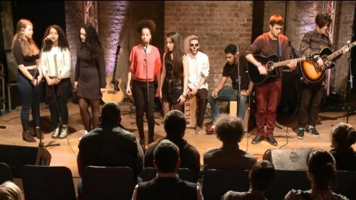 Final performance of The Songwriting Experiment at the Roundhouse, London