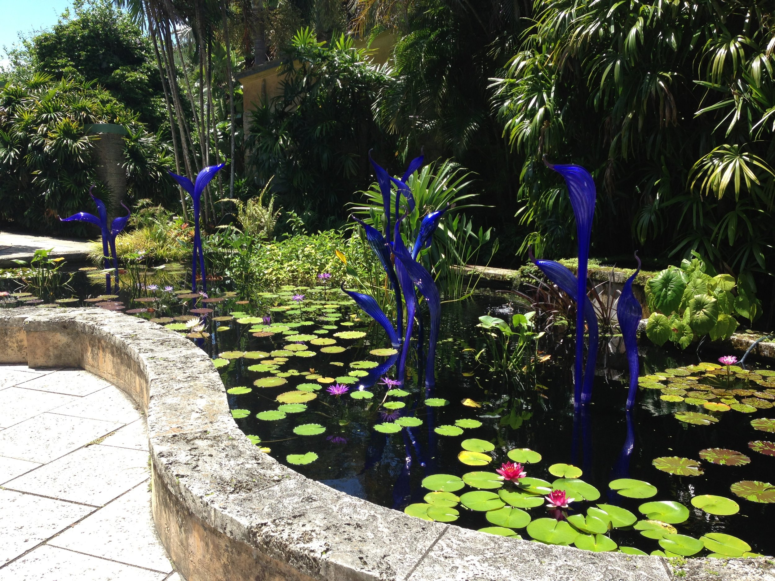 Chihuly glass at the entrance of Fairchild Tropical BG