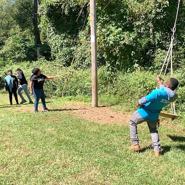 @AllyPond Adventure Course with @youngwriters_2023 Teamwork makes the dream work!