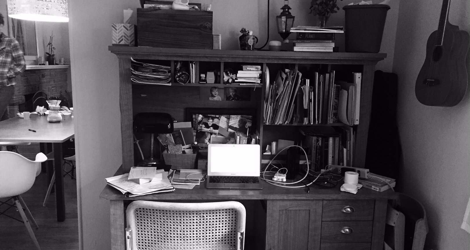 my perpetually-messy workspace