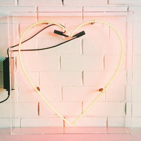 """You're the superstar of my heart..."" Working on song lyrics today.  #neon #heart #pink #pastel #songwriting"