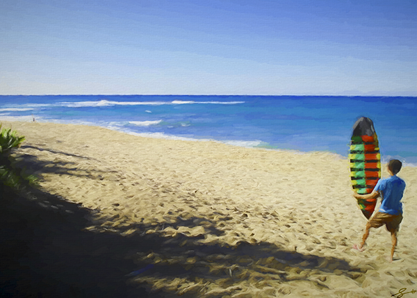 Boy Meets Beach..