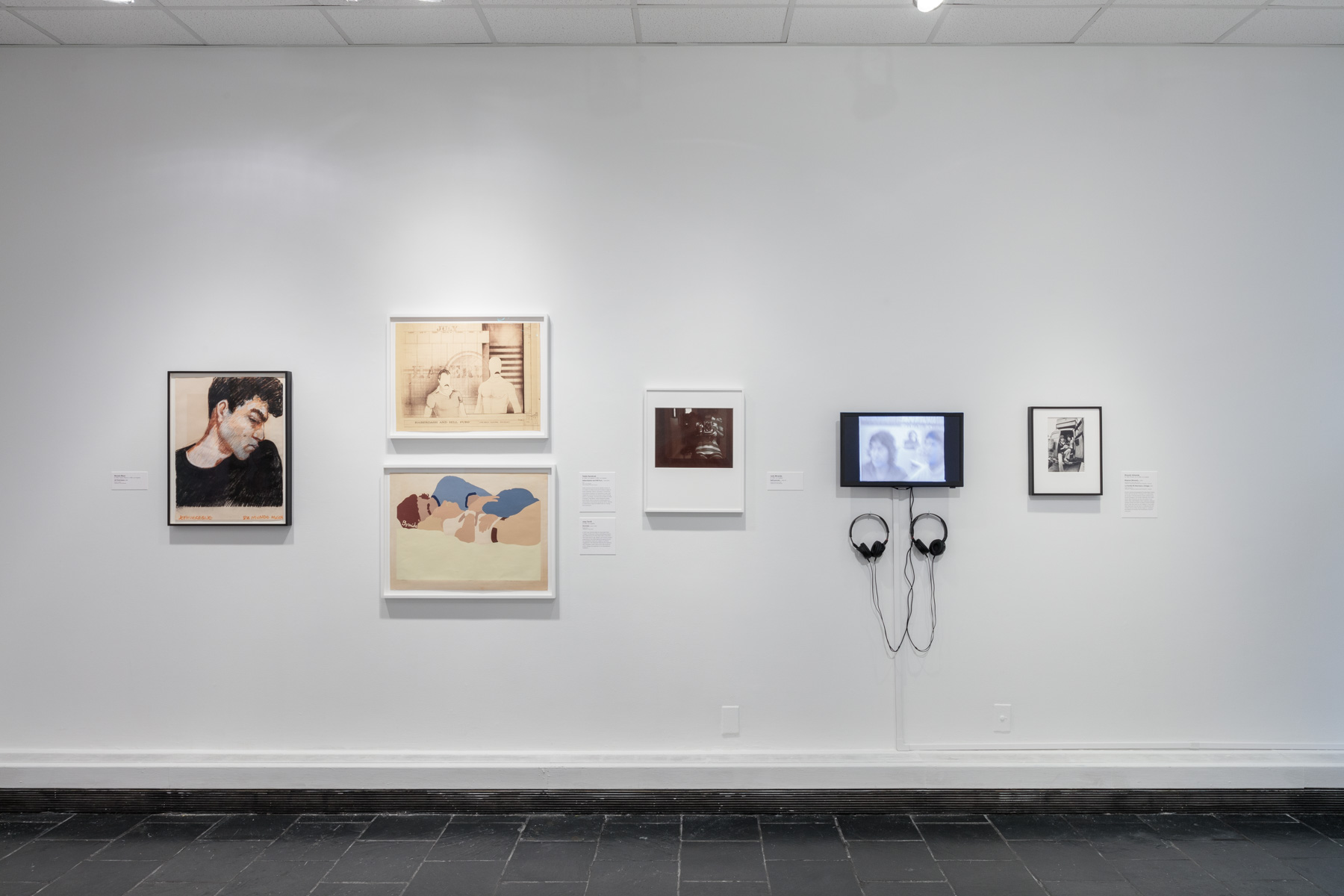 Installation view of  Axis Mundo: Queer Networks in Chicano L.A.  at the Bertha and Karl Leubsdorf Gallery. Photo by Stan Narten. Courtesy of Hunter College Art Galleries.
