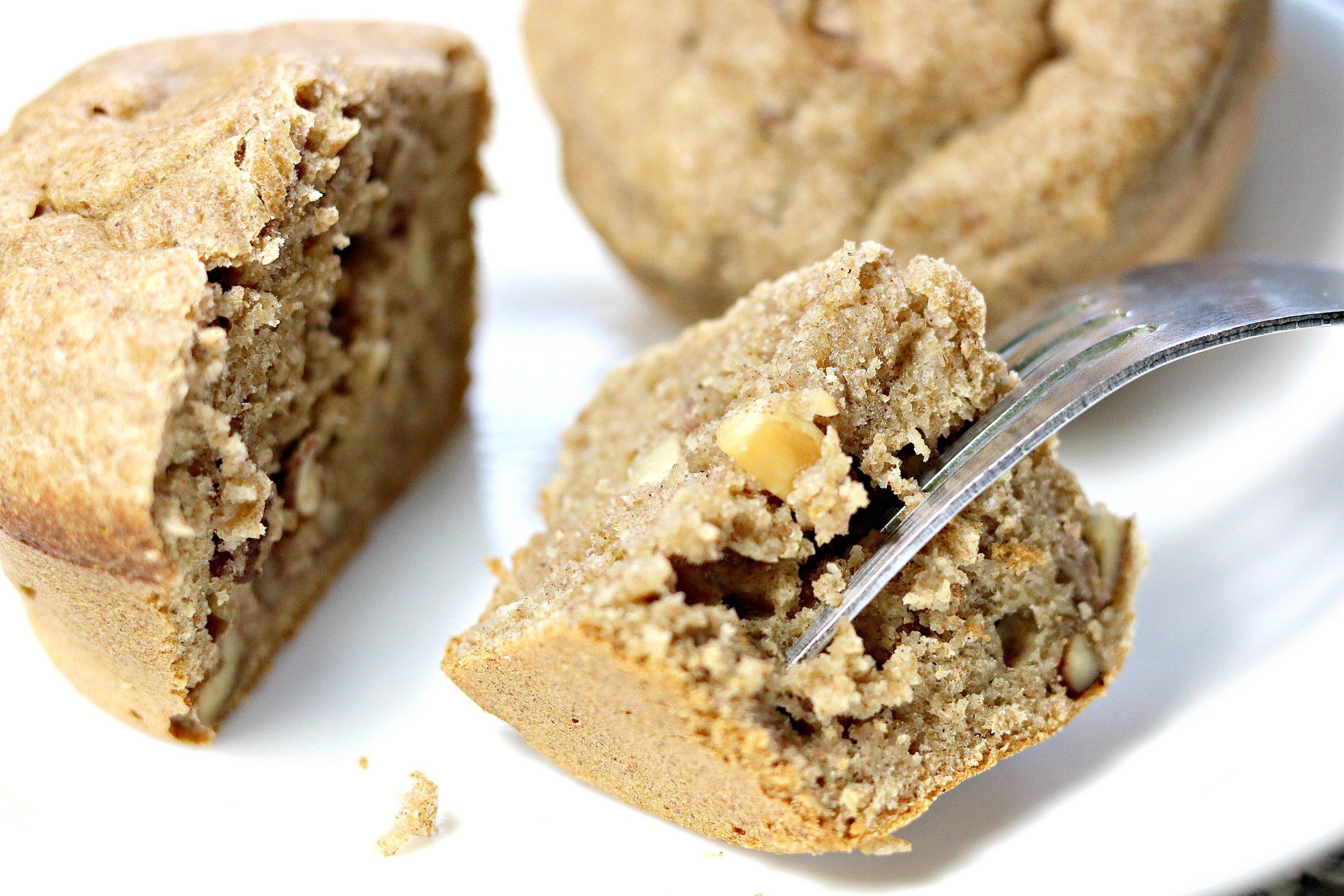 Nutty Banana Sourdough Muffins