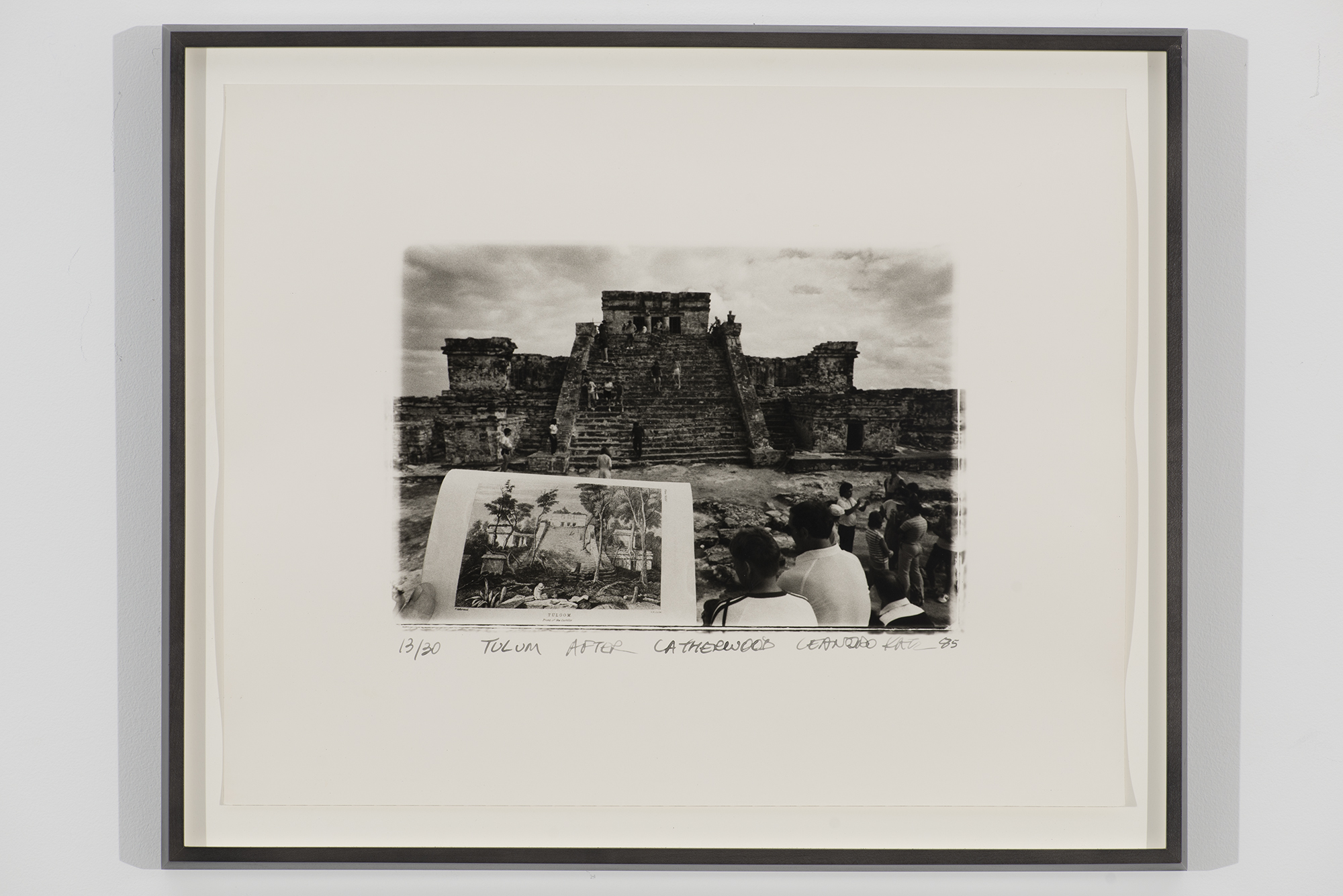 Leandro Katz,    El Castillo [Chichén Itzá],  1985. Gelatin silver print, 20 x 16 inches. The Museum of Modern Art. Promised gift of Patricia Phelps de Cisneros through the Latin American and Caribbean Fund in honor of May Castleberry.