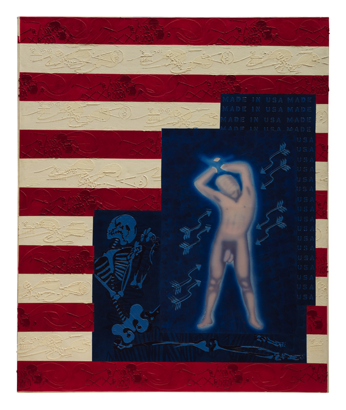 Gerardo Velázquez, The Neglected Martyr , 1990. Acrylic on canvas, 80 x 66¼ in. (203.2 x 168.3 cm). Gift of the Nervous Gender Archive. ONE National Gay & Lesbian Archives at the USC Libraries. Photo by Fredrik Nilsen