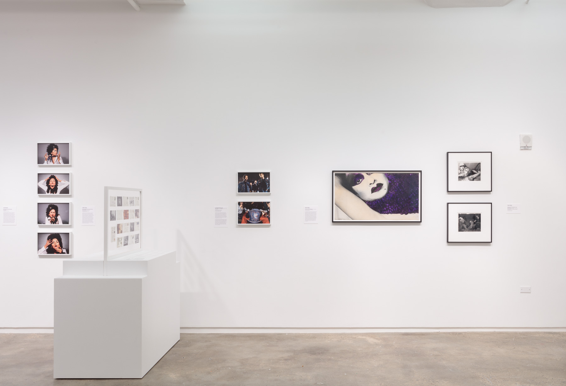 Installation view of  Axis Mundo: Queer Networks in Chicano L.A.  at 205 Hudson Gallery. Photo by Stan Narten. Courtesy of Hunter College Art Galleries.