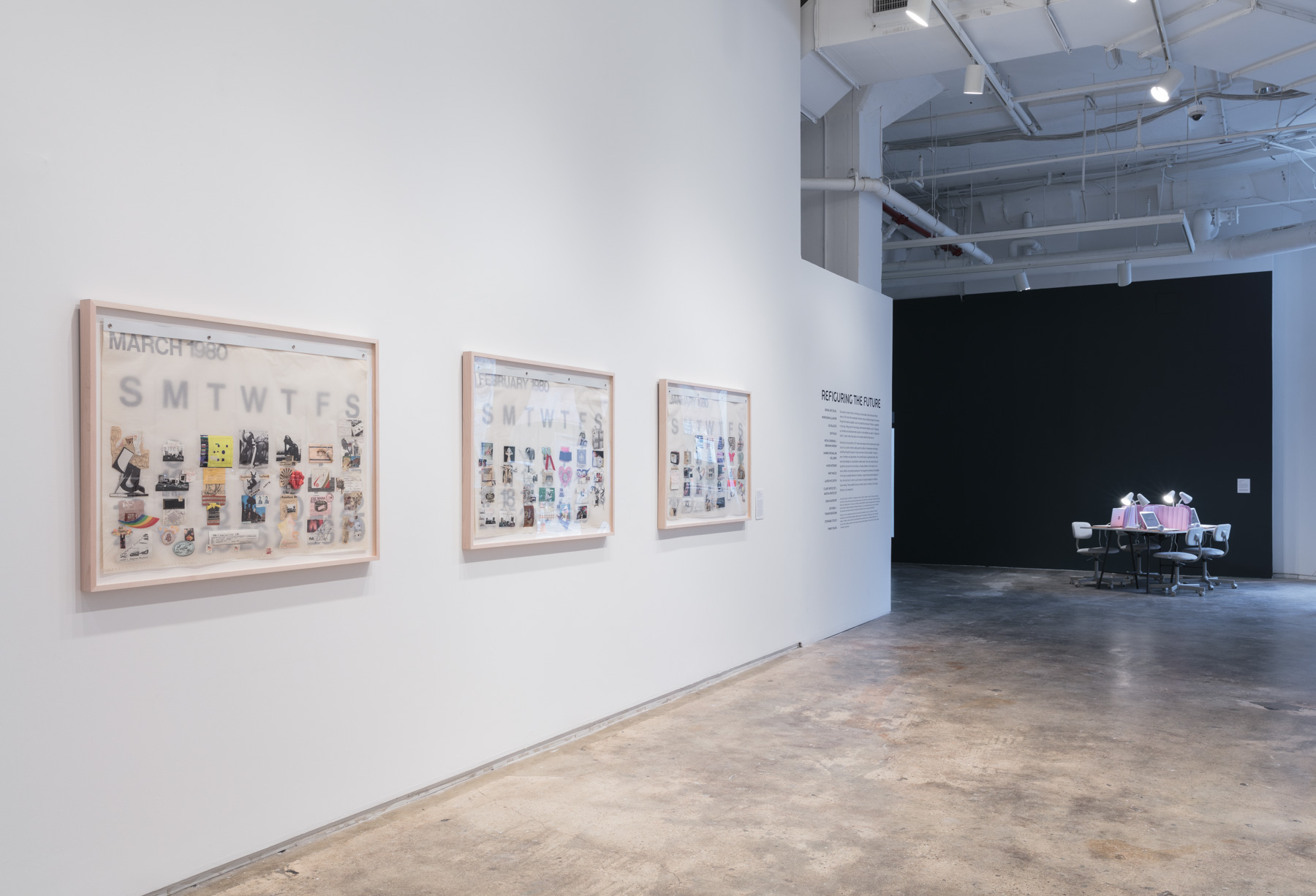Installation view:  Refiguring the Future , Hunter College Art Galleries, 2019. Photo by Stan Narten.
