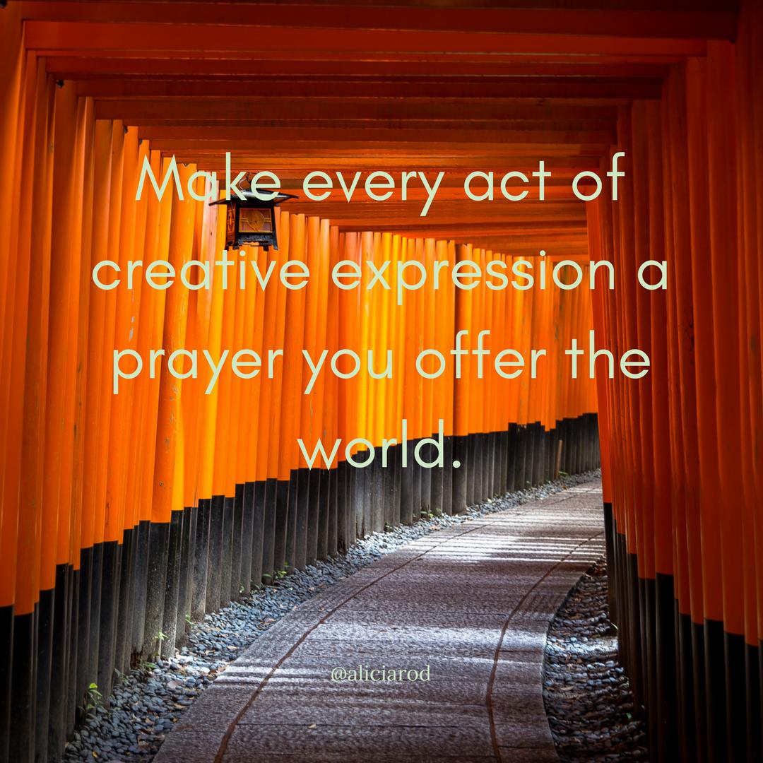 Your Art As Prayer
