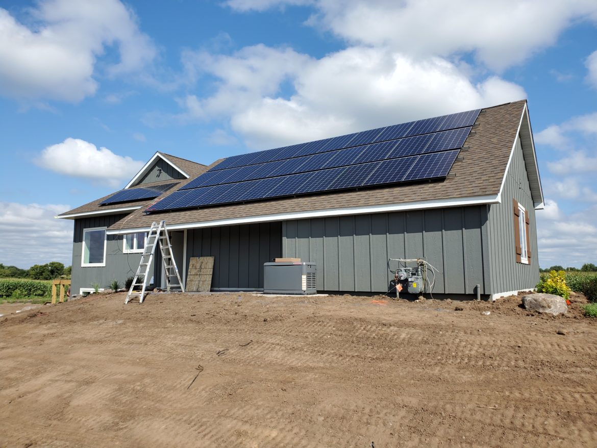 Raymond Pruban's solar-powered home in Afton, Minnesota, stands out among a group showcased in the Twin Cities' Parade of Homes tour: The 3,000-square-foot house is expected to produce more energy than it consumes.