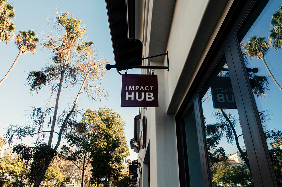 sign of impact hub on state street in santa barbara california.jpg