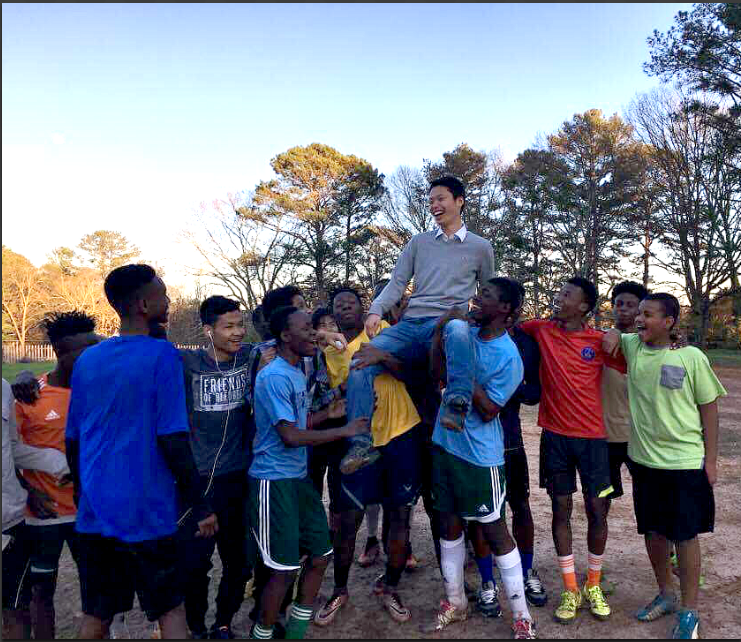 Our Clarkston boys give Yuichiro Ohno a proper farewell