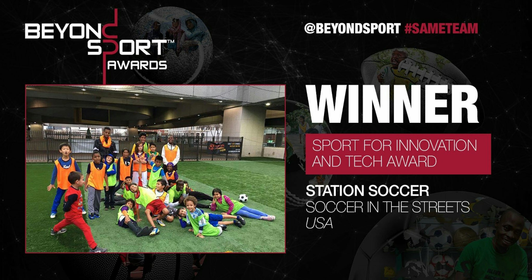 The Atlanta-based social impact soccer organization was recognized for its Station   Soccer Program during the Beyond Sport Global Award ceremony at the One World   Observatory in New York City.