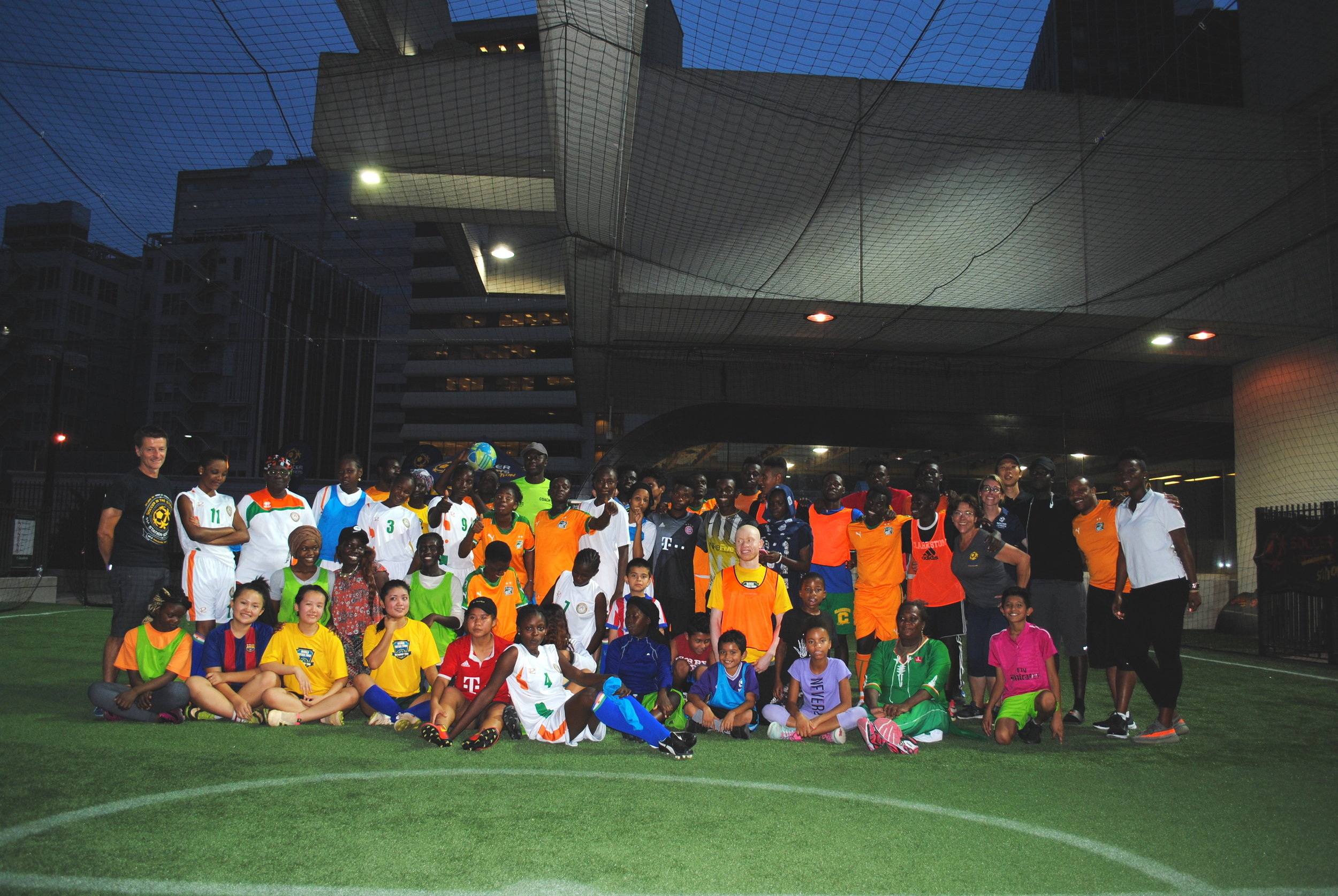 With the support of the State Department and The Audacity Agency, African-American, Latino and Refugee children from metro Atlanta participate in an exchange at Station Soccer with children from  Cote d'Ivoire and Niger