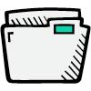 icon of a file folder
