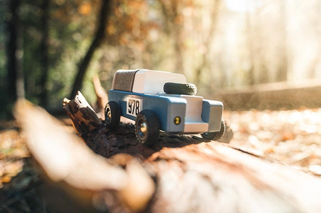 Drifter from @candylabtoys log crawlin' on Old Log Road back in Yosemite 🌲 #simplycandylab  Didn't know which one I liked better 🤔 swipe to see the other option. It was a rainy night and when the sun finally hit the forest floor there was steam everywhere!