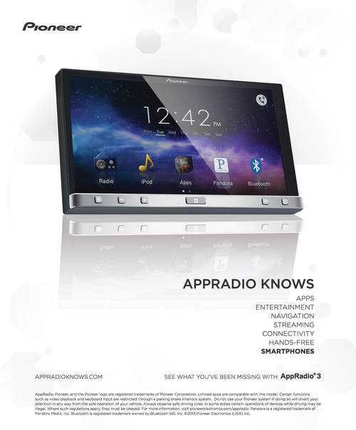 PIONEER AppRadio 3 Ad Campaign